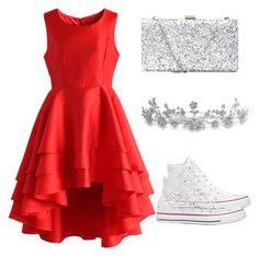 """""""Prom"""" by wild-child10 ❤ liked on Polyvore featuring Chicwish, Converse, Bling Jewelry, women's clothing, women, female, woman, misses and juniors"""