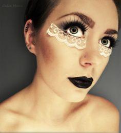 interesting use of as makeup.  i like.