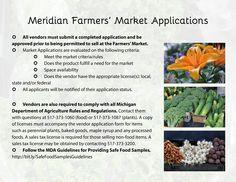 Meridian Farmers' Market Application Guidelines