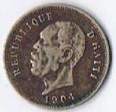 1904 Haiti 5 Centimes President Nord Alexis World Coin  $5.00
