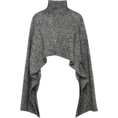 Marni Cropped Wool-Blend Turtleneck Top found on Polyvore