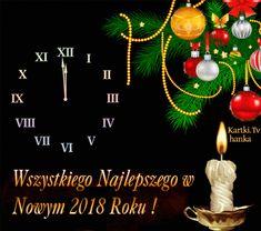 Wszystkiego Najlepszego w Nowym Roku 2018! Christmas Wishes, Christmas Bulbs, Holidays And Events, Happy New Year, Holiday Decor, Christmas Light Bulbs, Christmas Greetings, Happy New Year Wishes, New Year Wishes