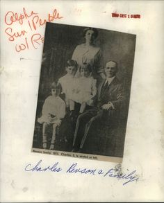 1976 Press Photo Chalres Revson & Family Pic 1912 Charles age 5 Founde – Historic Images