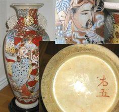 "Mark: ""Right, 5"". Japanese porcelain. Satsuma looking ware. Possible 1920-30."