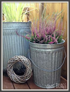Little Brags: Trash Can Planters