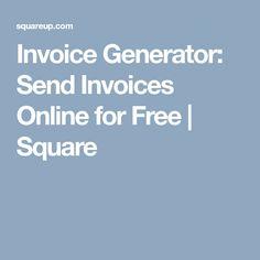 Free Invoice Generator Free Online Invoice Generator Pinterest - Send invoice online free