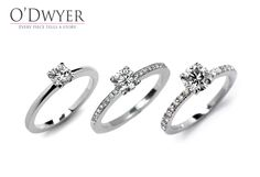 Solitaire Ring - 18ct white gold rings with diamonds. Förlovningsring Vigselring