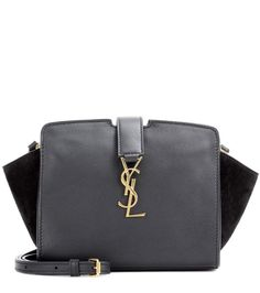 Toy Cabas black leather shoulder bag