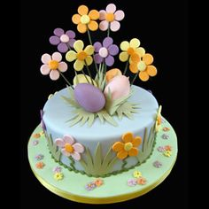 easy to make easter cakes Crazy Cakes, Fancy Cakes, Fondant Cakes, Cupcake Cakes, Torta Angel, Super Torte, Easter Cupcakes, Easter Cake, Spring Cake