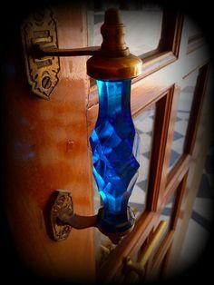Crystal Blue Door Handle