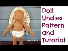 Doll Underpants Pattern and Step by Step Instructions - YouTube