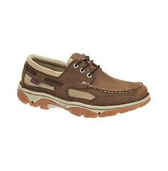 Cotswold Mens Corinium Leather Wicking Mesh Lined Casual Boat Shoes SWxiru