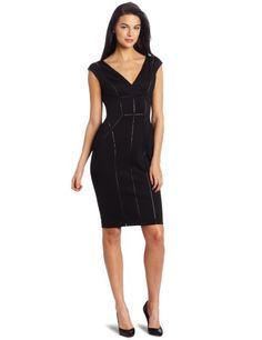 #Vince Camuto Women's Zip Back Sheath #Dress              http://amzn.to/H68kG4