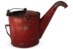 Red Watering Can on OneKingsLane.com