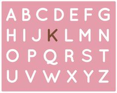 Pink And Brown Nursery Alphabet Art Print by thedreamygiraffe, $18.00
