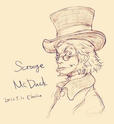 Humanized Scrooge McDuck (by chacckco)