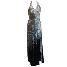 Vintage sequin evening gown. The absolute perfect New Year's Eve dress for a ball or gala.