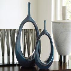 Global Views Open Oval Ring Vase Celestial