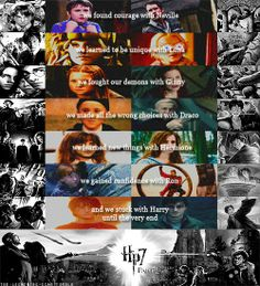What we learned from the kids at Hogwarts.  This is beautiful. I want to cry.