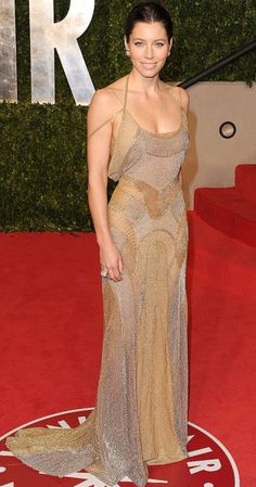 Jessica Biel at the Vanity Fair Oscar party on Feb. 27, 2011
