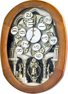 0-000429>Joyful Encore Musical Wall Clock Wooden