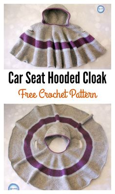 crochet poncho kids This Car Seat Hooded Cloak Free Crochet Pattern is a perfect way to keep your child warm without the big puffy coat. This pattern is beginner friendly. Crochet Baby Poncho, Crochet Car, Crochet Toddler, Crochet Poncho Patterns, Crochet Bebe, Crochet Baby Clothes, Crochet For Kids, Baby Patterns, Baby Knitting