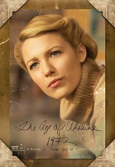 Blake Lively's Age of Adaline Timeless Beauty: See Her Stay 29 Through Eight Decades in New Movie Posters Für Immer Adaline, Blake Lively Age, Age Of Adaline, New Movie Posters, Twisted Updo, I Cant Sleep, Happy Smile, Loreal Paris, Art