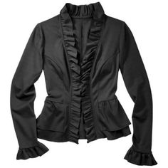 Merona® Women's Ponte Ruffled Peplum Blazer - Assorted Colors