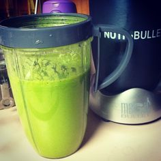 Yummy!!!!! - spinach, water, mango, pineapple, banana! I actually really like this one! #nutribullet @thenutribullet is still going strong! #nutriblast