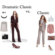 """Dramatic Classic vs. Classic"" by tayachroma on Polyvore"