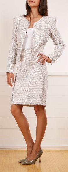 Work attire: Posen boucle tweed skirt suit