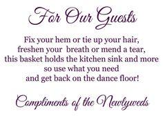 Bathroom Basket Poem/Sign!