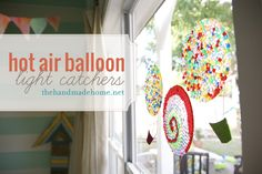 hot air balloon light catchers: Fun the make with the kids