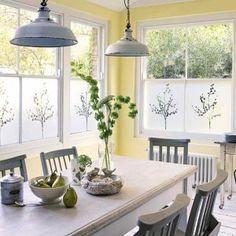 Best Kitchen Colors, Best Kitchen Designs, Modern Kitchen Design, Shabby Chic Kitchen, Country Kitchen, New Kitchen, Kitchen Walls, Kitchen Windows, Kitchen Yellow