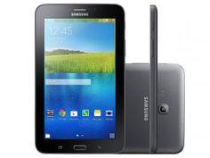 """Tablet Samsung Galaxy E 8GB Tela 7"""" 3G Wi-Fi - Android 4.4 Quad-Core Câm. 2MP GPS Função Celular"""