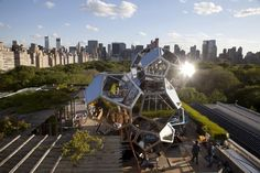 Argentine artist Tomas Saraceno combines art, architecture and science in a striking installation on the rooftop garden of The MET. May 2012