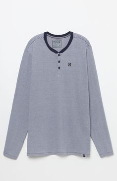 Dri-FIT Look Out Striped Long Sleeve Henley T-Shirt