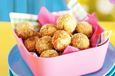Kids will love these little tuna balls, served with sweet chilli sauce. They will be gone before you know it!