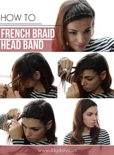 DDG DIY: French braid head band  | how tos hair styles beauty 2 feature ddg diy beauty 2  picture