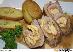 Vepřová panenka plněná sýrovou omeletou Baked Potato, Sausage, Pork, Potatoes, Meat, Baking, Ethnic Recipes, Roast Beef, Kale Stir Fry