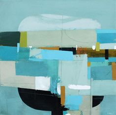 "Long Abandoned Hull by Andrew Bird | Acrylic on canvas | 24"" x 24"" #andrewbird #tannerandlawson #cornwall #abstractart"