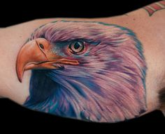 Realistic Eagle Tattoo - Cecil Porter - http://inkchill.com/realistic-eagle-tattoo/