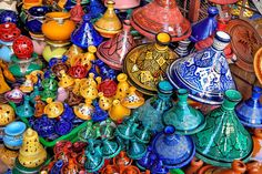 MOROCCO: Ceramics A colorful hand-painted ceramic bowl is a beautiful and unique gift to bring home from Morocco. Decorative pieces are often hand-painted with intricate floral and geometric designs. The cities that are the main centers for ceramics are Safi and Fez.
