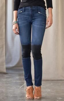 TOP SPEED JEANS BY BLACK ORCHID. Love the black detail on these!