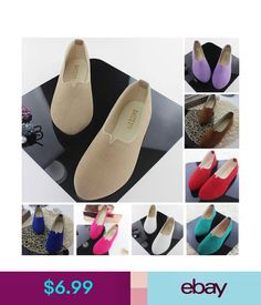 pretty nice 1c7de ae7cf Casual Women s Shoes Loafers Zapatos Mujer Suede Ballet Flats Ladies  Sapatos  ebay  Fashion