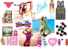 """""""PINK"""" by carolinee16 on Polyvore"""