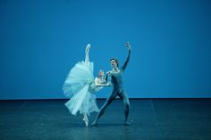 Svetlana Zakharova and Andrei Uvarov in Balanchine's Serenade Photo © Damir Yusupov