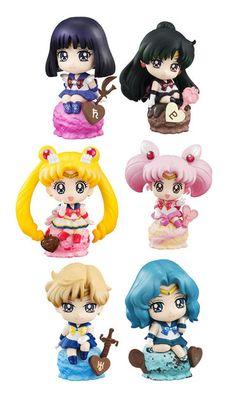 Sailor Moon Petit Chara Land Sammelfiguren 6 cm Ice Cream Party Sortiment (6)