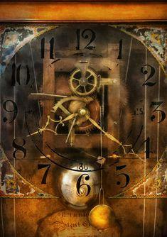 Clockmaker - A sharp looking time piece Canvas Print / Canvas Art by Mike Savad Framed Prints, Canvas Prints, Art Prints, Unusual Clocks, Time Warp, Thing 1, Pics Art, Dark Art, Fine Art America