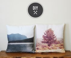 Spoonflower.com is my new crush. I'm planning toddler art pillows for grandparents rather than photos, but this tutorial will point the way. Everything Golden » DIY – Landscape Pillows